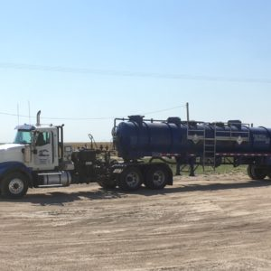 Wide view of an Energy Fabrication kill truck