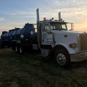 Kill truck sits in a field in Pecos, TX
